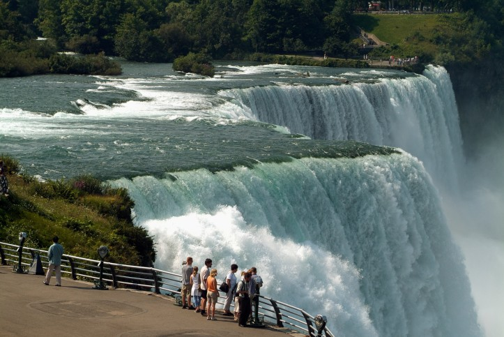 Tourists at Niagara Falls
